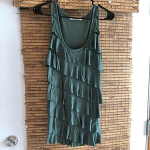 Old Navy Dress Tank, Medium, Olive Green